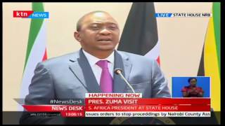 President Uhuru Kenyatta [FULL SPEECH] during President Jacob Zuma's visit to Kenya