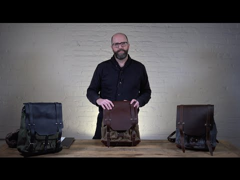 The Cascade Waxed Canvas Laptop Backpack Video