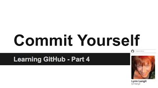 screencast of GitHub - using branching and forking and merging
