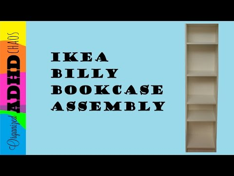 High Speed Ikea Billy Bookcase Assembly (with instructions) *NOW FASTER!*