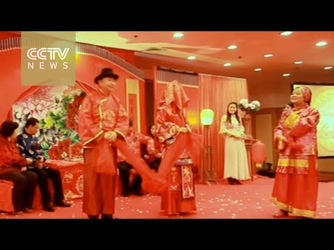 Ancient wedding traditions for Brides and Grooms in China (видео)