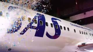 To celebrate SAS turning 70 years old, the Boeing 737-800 LN-RGI got a new livery and of course a lot of confetti.