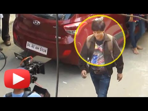 LEAKED : Shahrukh Khan Shooting for FAN In Dwarka!