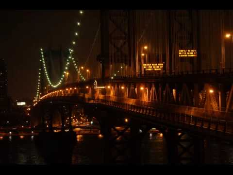 Manhattan Bridge - Close-up footage of the Manhattan bridge moving with the subway traffic.