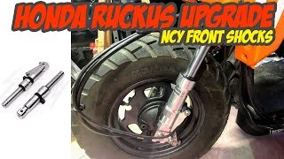 9. Honda Ruckus : Upgrading the front suspension with NCY shocks