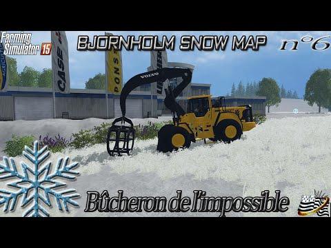 Farming simulator 15 - Bûcheron de l'impossible - EP6 - MAP NEIGE