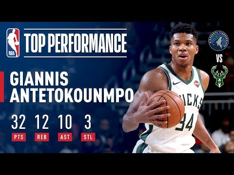 Video: Giannis Antetokounmpo's Triple-Double Leads Bucks in Match-Up with Timberwolves | 2018 NBA Preseason