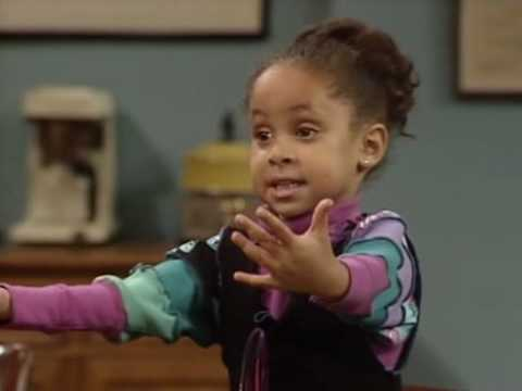 Mothers - how mothers deliver a baby from little girl point of view scene from Cosby Show Season 6 - Raven Symone.