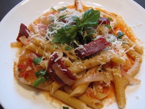 How to Make Spicy Italian Salami Sausage Pasta