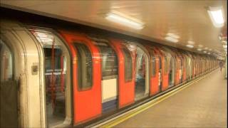 London Underground Trains at Mile End