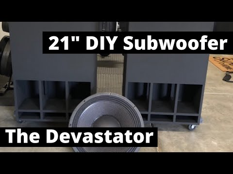 21 Inch DIY Subwoofer build guide! The best sub for your Home Theater.