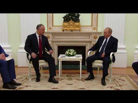 Igor Dodon a avut o întrevedere cu Vladimir Putin