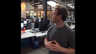 September 14th, 2015!Tour around the new facebook headquarters by Mark ZuckerbergFirst live video!