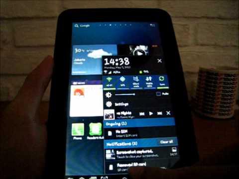 Antar Muka Galaxy Tab 2 7.0