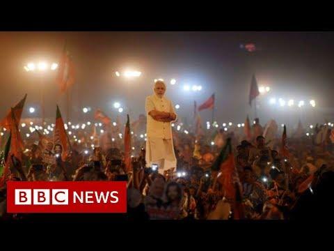 Celebrations after Prime Minister Modi wins Indian election - BBC News