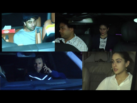 Saif-Kareena ,Karishma and Ranbir Kapoor Spotted At Shashi Kapoor House