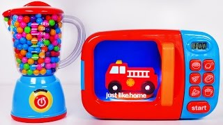 Video Fire Truck Microwave and Blender for Kids!! Toy Vehicles for Children MP3, 3GP, MP4, WEBM, AVI, FLV Juni 2017