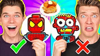Video PANCAKE ART CHALLENGE Mystery Wheel 2 & Learn How To Make Diy Avengers & Aquaman Art MP3, 3GP, MP4, WEBM, AVI, FLV Juli 2019