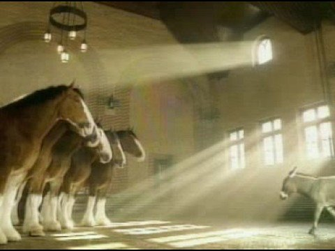 Superbowl Budweiser donkey commercial