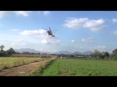 Incidente agricolo, l'elisoccorso