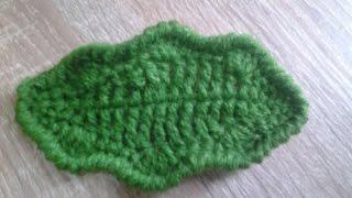 How to Crochet Leaf (3).......Merajut Daun