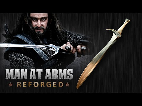 Man at Arms Reforged Builds a RealLife Version of Thorin  s Orcrist Sword From The Hobbit