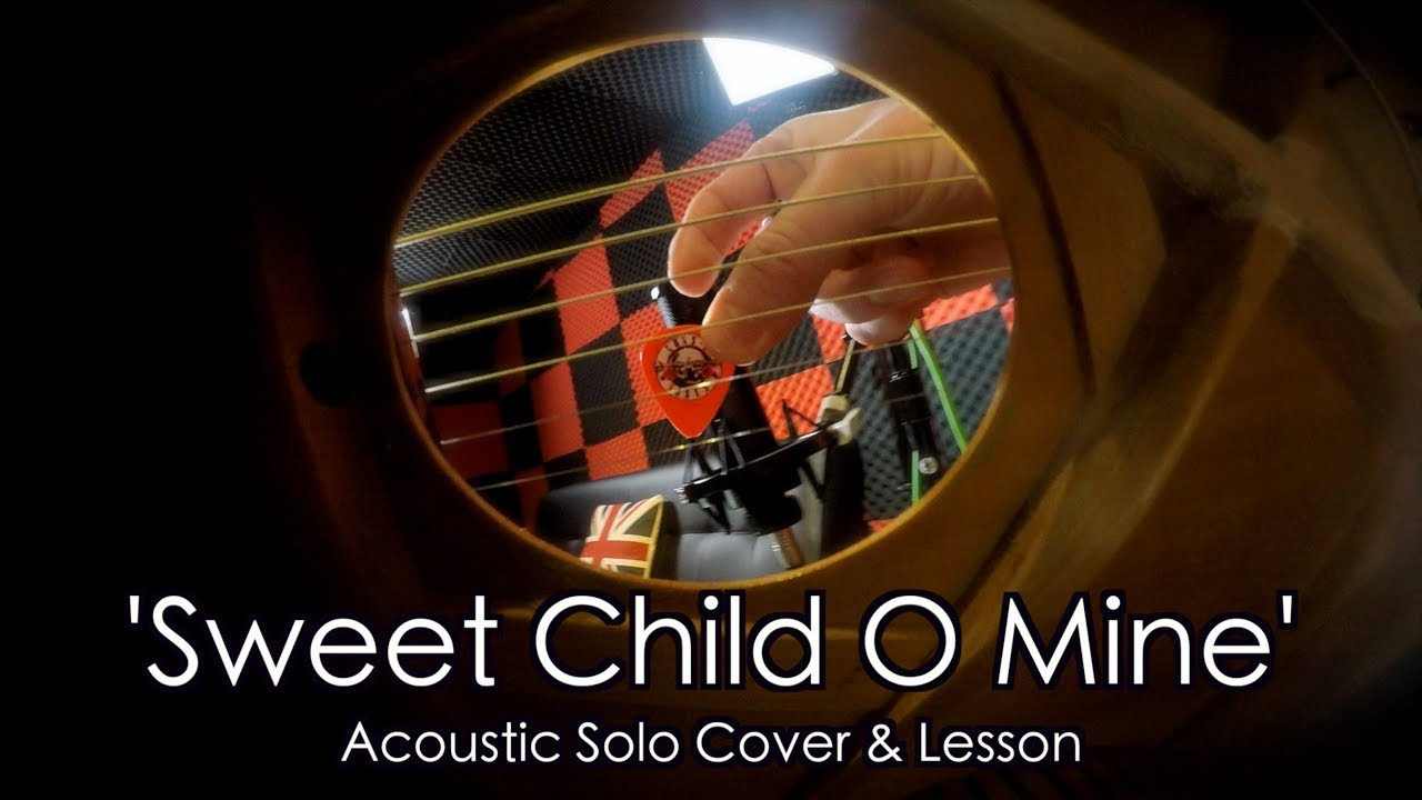 'Sweet Child O Mine' Solo by Guns N Roses – Acoustic Guitar Cover & Lesson