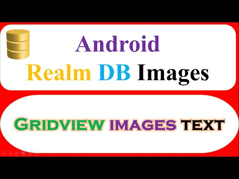 Android Realm : GridView Images Text – Save,Retrieve,Show