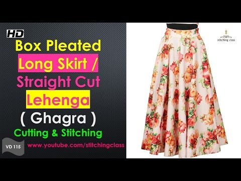 Video How to Make Box Pleated Long Skirt     Straight Cut Lehenga Cutting & Stitching    download in MP3, 3GP, MP4, WEBM, AVI, FLV January 2017