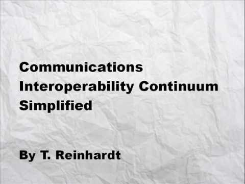 Communications Interoperability Continuum Simplified