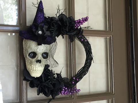 Instant video play dollar tree diy halloween skull for Black headbands dollar tree