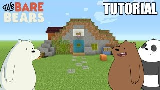 "Minecraft Tutorial: How To Make The ""We Bare Bears"" Cave / House!! ""We Bare Bears"" (Survival House)"