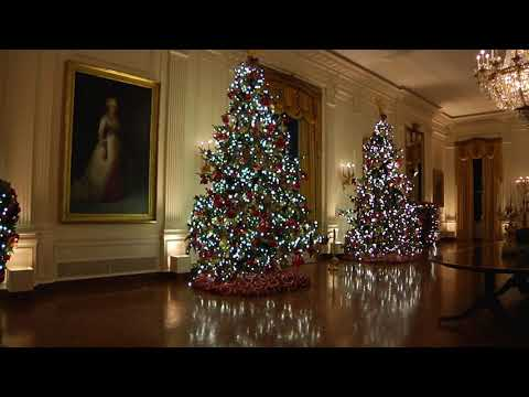 First Lady Melania Trump Unveils Christmas at the White House 2019