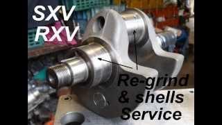 9. Aprilia rxv 550  450 crankshaft mains Re grind service / engine