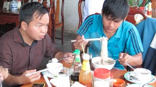 Pailin Cambodia  city photo : Breakfast at Pailin City in Cambodia | Grilled Pork Rice 5,000 Riel & Noodle Soup 7,000 Riel