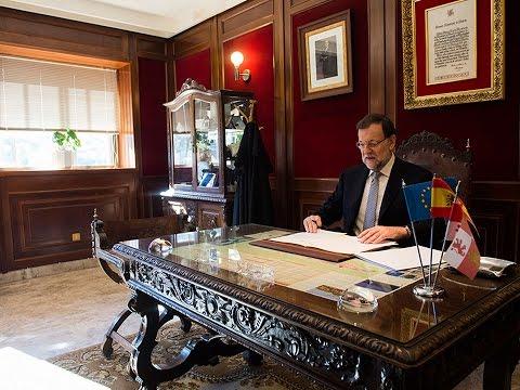 Declaración institucional de Mariano Rajoy ante el desafío del Parlament de Cataluña