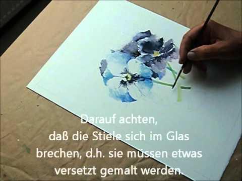 Aquarell – Günther Spath malt Stiefmütterchen