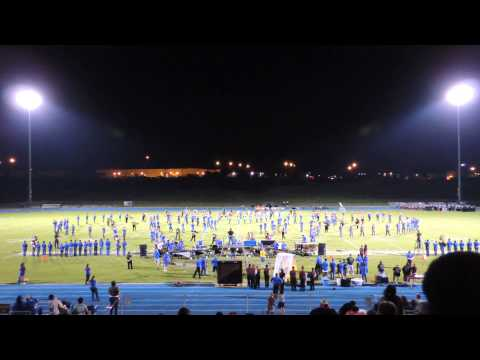 Copperas Cove Band at Fort Hood Stadium during Killeen football game 9-27-13