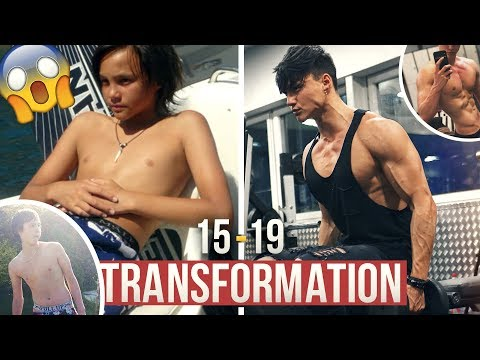 MY 20 YEARS YOUNG NATURAL BODY TRANSFORMATION - From SKINNY To ATHLETIC | 15-19 MUSCLE EVOLUTION 💪🏽