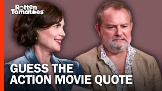 Elizabeth McGovern & Hugh Bonneville Play 'Guess the Action Movie Quote'