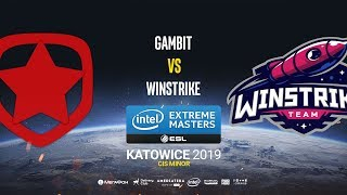 Gambit vs Winstrike - IEM Katowice CIS Minor - map3 - de_dust2 [Gromjkee & Tafa]
