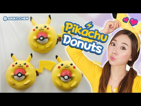 How to Make PIKACHU Donuts - Ari Kitchen
