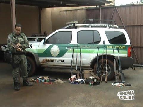 Policia Ambiental apreende armas em Jandaia