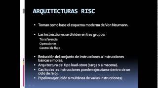 VideoTutorial  Arquitectura RISC vs CISC