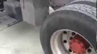 Semi Truck Tire Puncture
