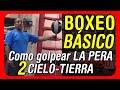 Clases de Boxeo para principiantes - Trabajando en la pera cielo - tierra o pera loca (Zurdo)