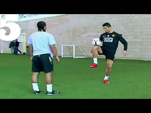 freestyle - In a #5 Magazine EXCLUSIVE Cristiano Ronaldo performs some incredible tricks and skills with football freestyler Jeremy Lynch. Subscribe: http://bit.ly/15QO9...