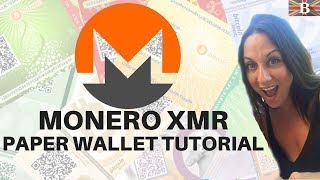 Monero XMR Paper Wallet Tutorial: How To Guide