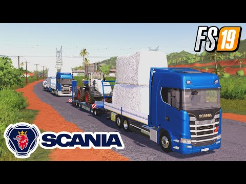 Trailer 3 axle with platform for Scania S580 truck v1.0.0.0