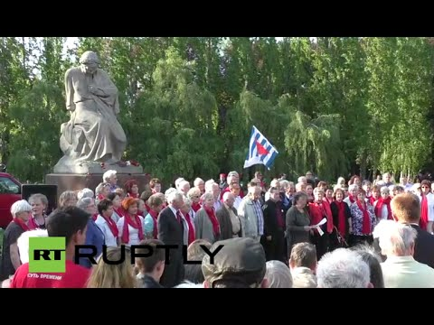 Sowjetisches Ehrenmal, Berlin-Treptower Park: Gedenkveranstaltung zum Tag der Befreiung, 8. Mai 2016